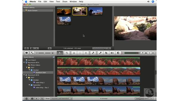 Cropping and rotating: iMovie '08 Essential Training