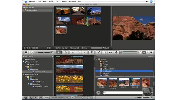 Incorporating photos: iMovie '08 Essential Training