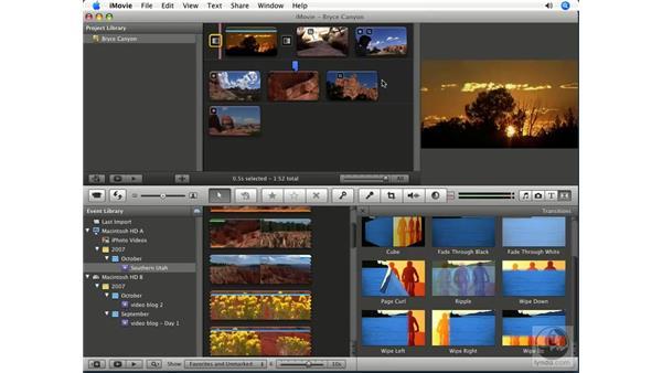 Using transitions: iMovie '08 Essential Training