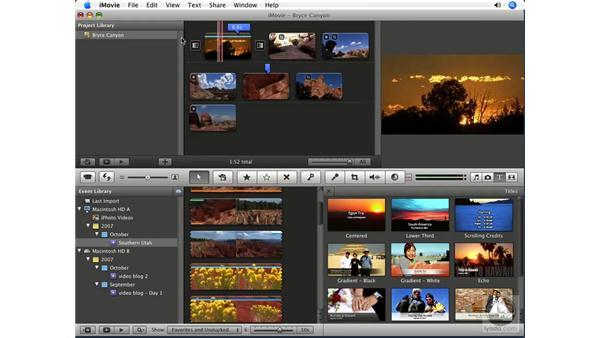 Adding titles: iMovie '08 Essential Training