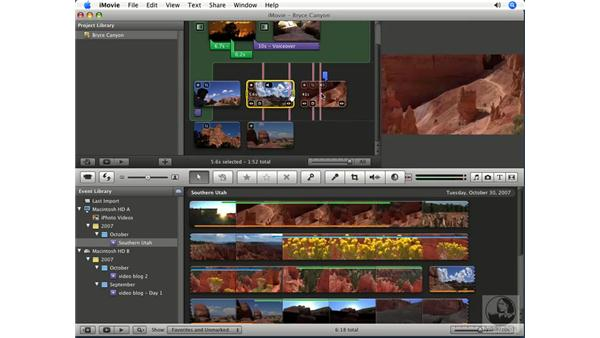 Extracting audio from other clips: iMovie '08 Essential Training