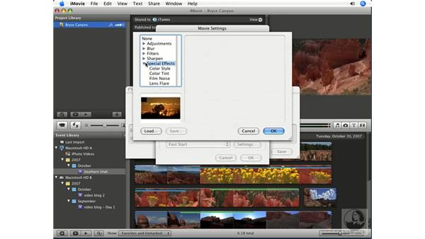 Other export options: iMovie '08 Essential Training