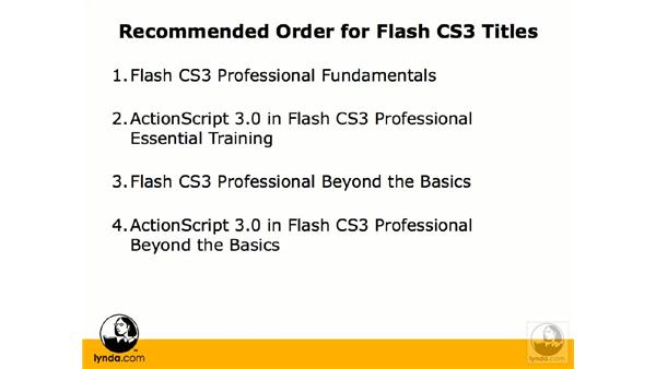 Getting the most from this training: Flash CS3 Professional Beyond the Basics