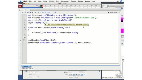 Applying CSS with ActionScript: Flash CS3 Professional Beyond the Basics