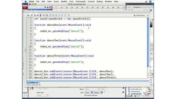Adding sound to the application: Flash CS3 Professional Beyond the Basics