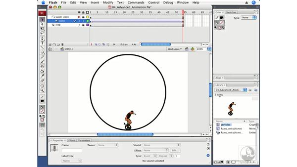 Creating an advanced animation with video: Flash CS3 Professional Beyond the Basics