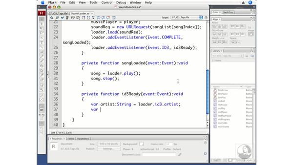 Accessing ID3 tag information: Flash CS3 Professional Beyond the Basics