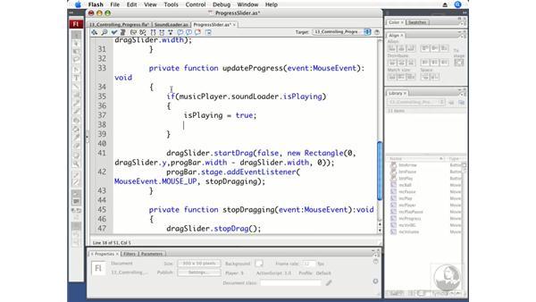 Building the progress bar slider: Flash CS3 Professional Beyond the Basics