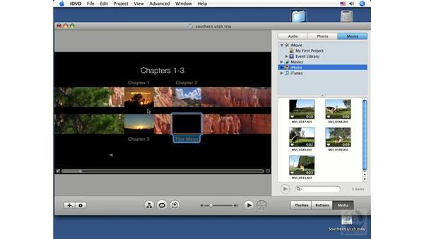 Adding a Title Menu button: iDVD '08 Essential Training