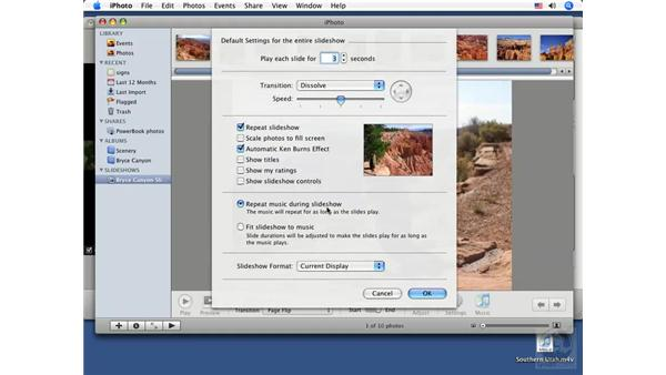 Adding an iPhoto slideshow: iDVD '08 Essential Training