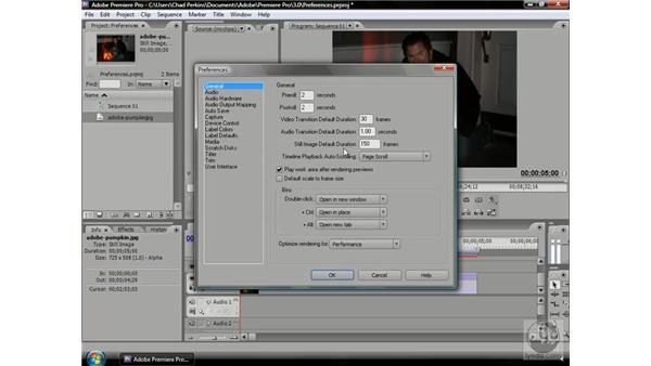 Setting default durations: Premiere Pro CS3 Beyond the Basics