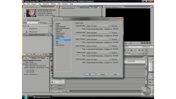 Understanding the importance of scratch disks: Premiere Pro CS3 Beyond the Basics