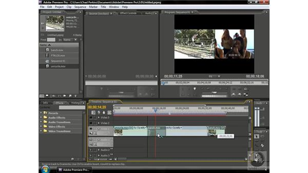 Reordering clips: Premiere Pro CS3 Beyond the Basics