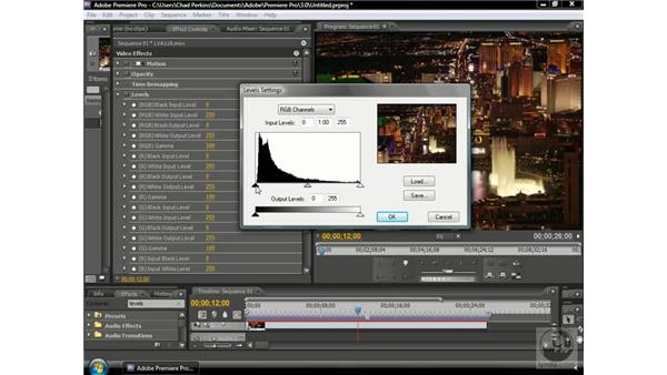 Using levels: Premiere Pro CS3 Beyond the Basics