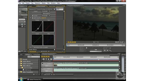 """Creating a """"day-for-night"""" shot: Premiere Pro CS3 Beyond the Basics"""