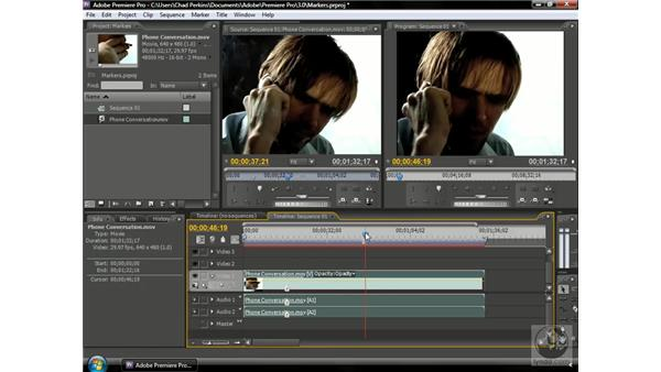 Using clip markers: Premiere Pro CS3 Beyond the Basics
