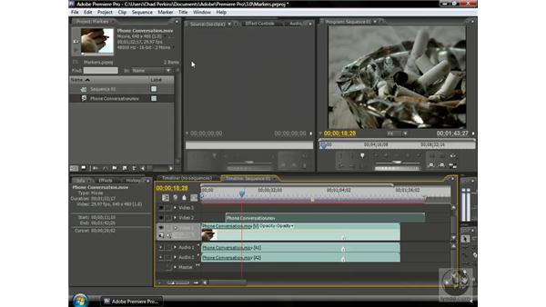 Synchronizing clips: Premiere Pro CS3 Beyond the Basics