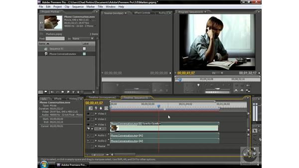 Using sequence markers: Premiere Pro CS3 Beyond the Basics