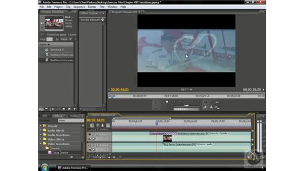 Using single-sided and double-sided transitions: Premiere Pro CS3 Beyond the Basics
