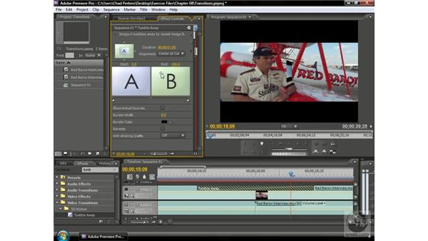 Changing the transition center: Premiere Pro CS3 Beyond the Basics