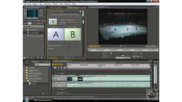 Adjusting the start and end points of transitions: Premiere Pro CS3 Beyond the Basics