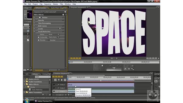 Creating a track matte: Premiere Pro CS3 Beyond the Basics