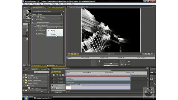 Creating a luma matte: Premiere Pro CS3 Beyond the Basics