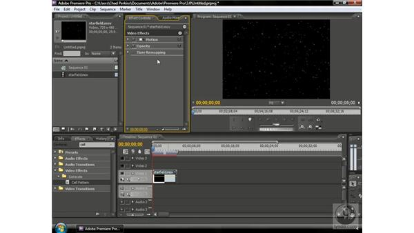 Using Black and Transparent Video with effects: Premiere Pro CS3 Beyond the Basics