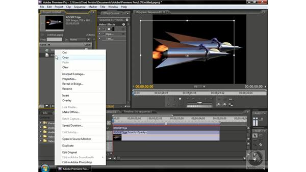 Using content with an alpha channel: Premiere Pro CS3 Beyond the Basics