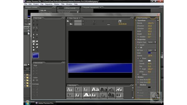Creating title templates: Premiere Pro CS3 Beyond the Basics