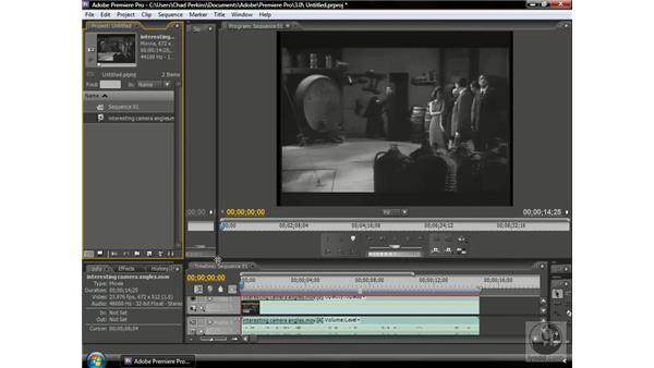 Using interesting camera angles: Premiere Pro CS3 Beyond the Basics