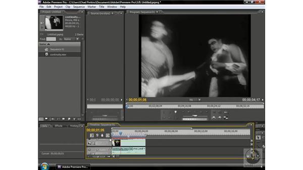 Using continuity between shots: Premiere Pro CS3 Beyond the Basics