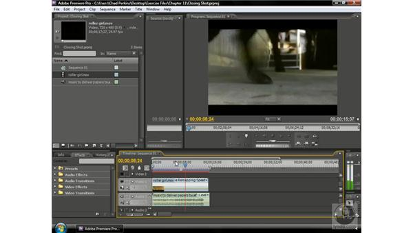 Getting a good closing shot: Premiere Pro CS3 Beyond the Basics