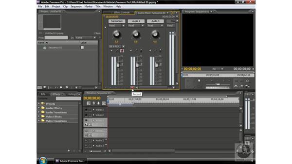 Recording audio: Premiere Pro CS3 Beyond the Basics