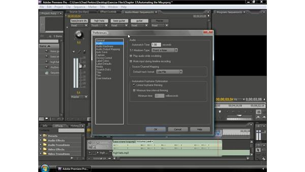Understanding the automation modes: Premiere Pro CS3 Beyond the Basics