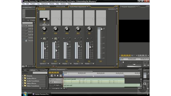 Grouping tracks using a submix: Premiere Pro CS3 Beyond the Basics