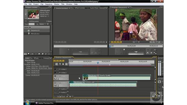 Unlinking audio and video tracks: Premiere Pro CS3 Beyond the Basics