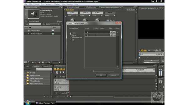 Using source channel mapping to create 5.1: Premiere Pro CS3 Beyond the Basics