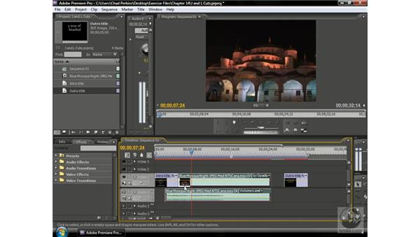 Making J- and L-cuts: Premiere Pro CS3 Beyond the Basics