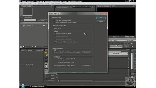 Understanding the Project Manager: Premiere Pro CS3 Beyond the Basics