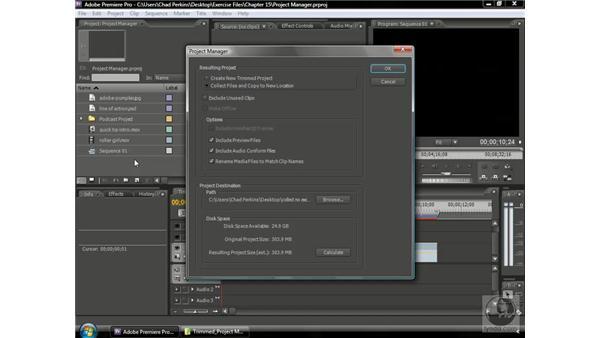 Getting rid of unused footage: Premiere Pro CS3 Beyond the Basics