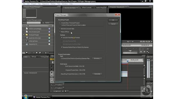 Understanding limitations of the Project Manager: Premiere Pro CS3 Beyond the Basics