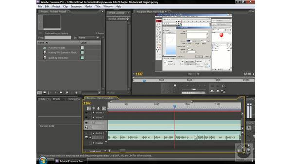 Fixing complicated audio mistakes: Premiere Pro CS3 Beyond the Basics