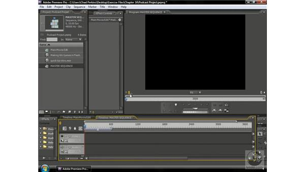 Nesting the edited sequence: Premiere Pro CS3 Beyond the Basics