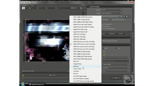 Exporting the video podcast: Premiere Pro CS3 Beyond the Basics