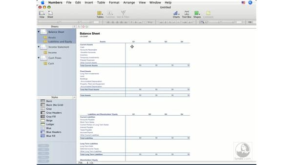 Creating and opening spreadsheets: Numbers '08 Essential Training
