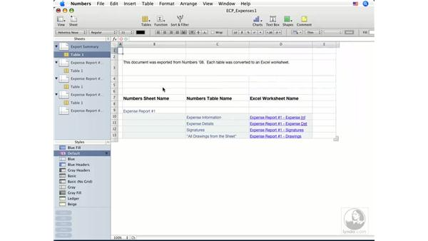 Importing spreadsheets and documents: Numbers '08 Essential Training