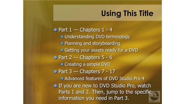 Using this title: DVD Studio Pro 4 Essential Training