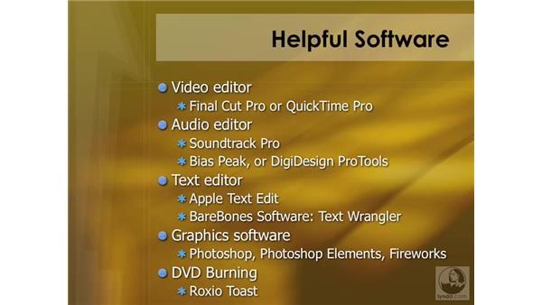 Using additional software: DVD Studio Pro 4 Essential Training