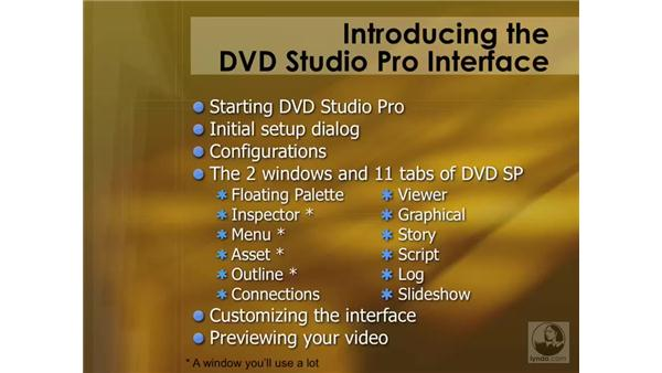 Introducing the interface: DVD Studio Pro 4 Essential Training